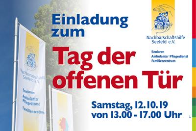 """Einladung zum """"Tag der offenen Tür"""" Samstag, 12.10.19 von 13.00 - 17.00 Uhr"""
